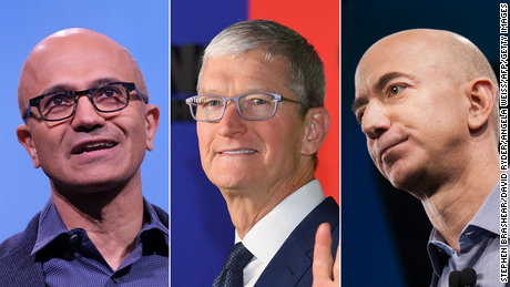 Amazon, Apple and Microsoft race to $2 trillion