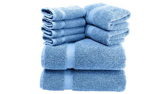 White Classic Luxury Bath Towel Set