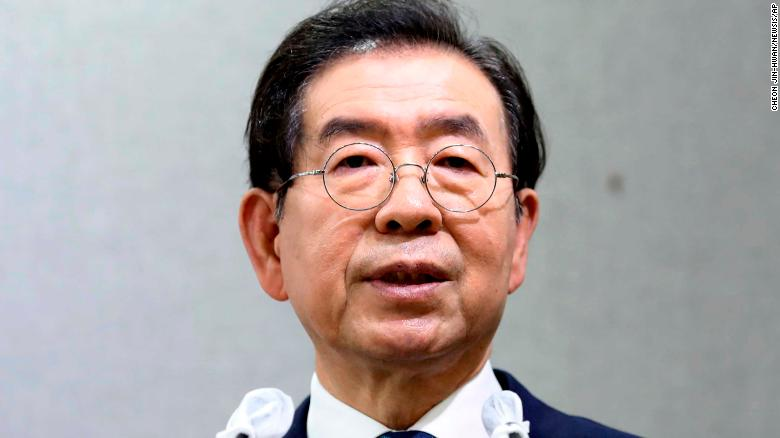 Seoul mayor Park Won-soon at a press conference on Wednesday, July 8.