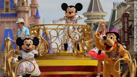 "Mickey Mouse will star in the ""Mickey and Friends Cavalcade"" when Magic Kingdom Park reopens July 11, 2020, at Walt Disney World Resort in Lake Buena Vista, Fla. With traditional parades on temporary hiatus to support physical distancing during the park's phased reopening, Disney characters will pop up in new and different ways throughout the day. (Kent Phillips, photographer)"