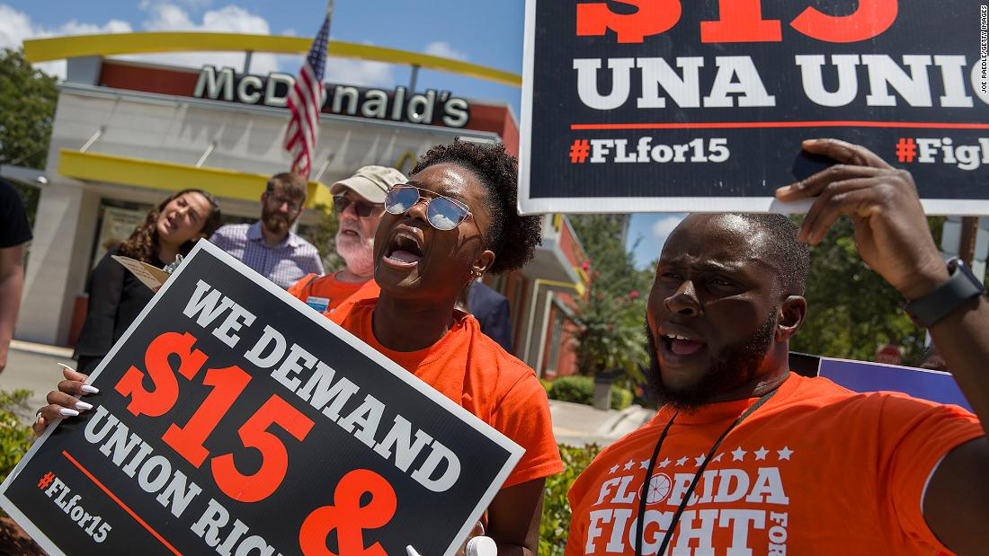 www.cnn.com: Strike for Black Lives demands union rights for workers at McDonald's, Amazon, Uber and others