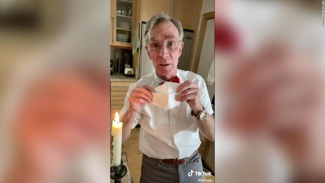 Bill Nye takes to TikTok to explain why we should all wear a face mask