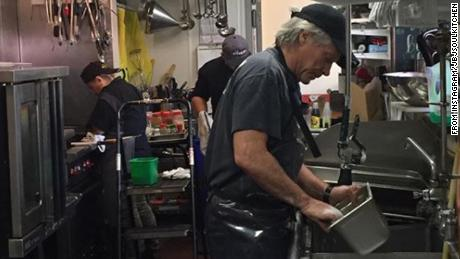 From rock superstar to all-star dishwasher, Jon Bon Jovi is keeping his community fed