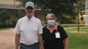 Mary Daniel says her husband Steve still recognizes her, even when she's wearing a mask.