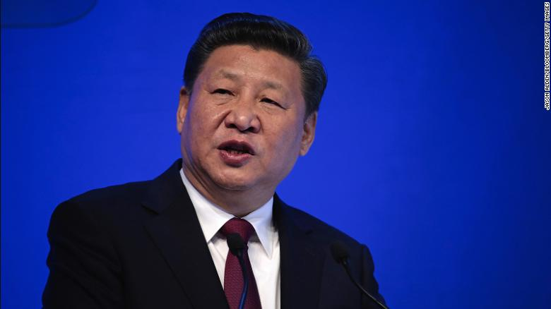Xi Jinping, pictured at Davos in January 2017.