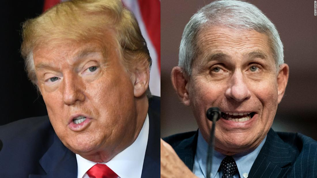 As Fauci disagrees with Trump on virus, White House takes aim