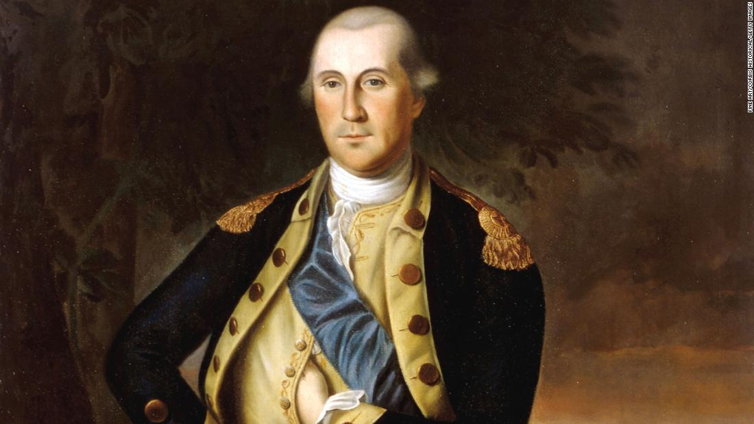 An oil on canvas of George Washington.
