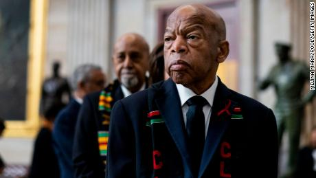 WASHINGTON, DC - OCTOBER 24: Civil Rights icon Congressman John Lewis (D-GA) prepares to pay his respects to U.S. Rep. Elijah Cummings (D-MD) who lies in state within Statuary Hall during a memorial ceremony on Capitol Hill on October 24, 2019 in Washington, DC. (Photo by Melina Mara-Pool/Getty Images)