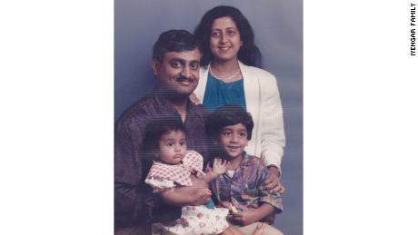 Family portait in 1995, shortly before we moved back to India.