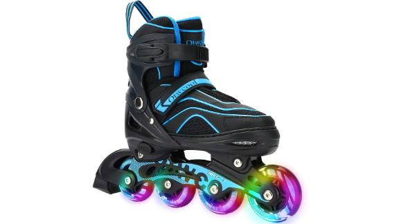 Otw-Cool Adjustable Inline Skates for Kids and Adults