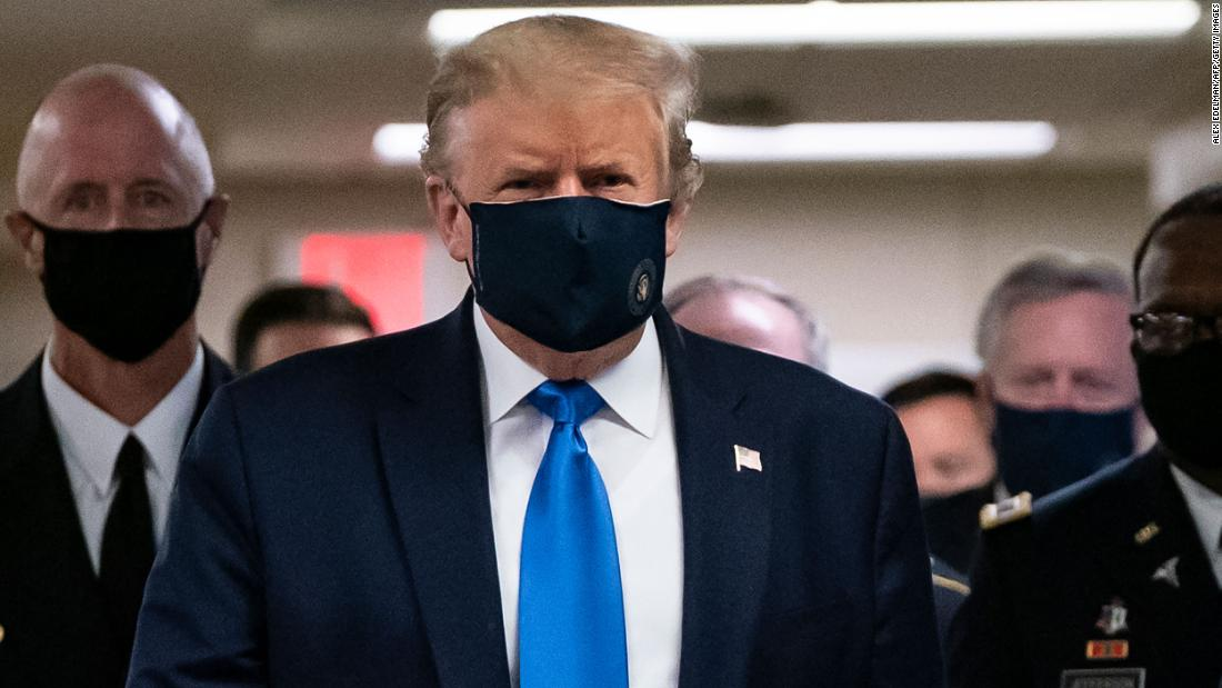 Trump backs down on the mask