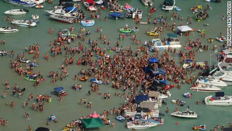 Hundreds of people celebrated the weekend of July 4th on Lake Michigan.  Now some have Covid-19