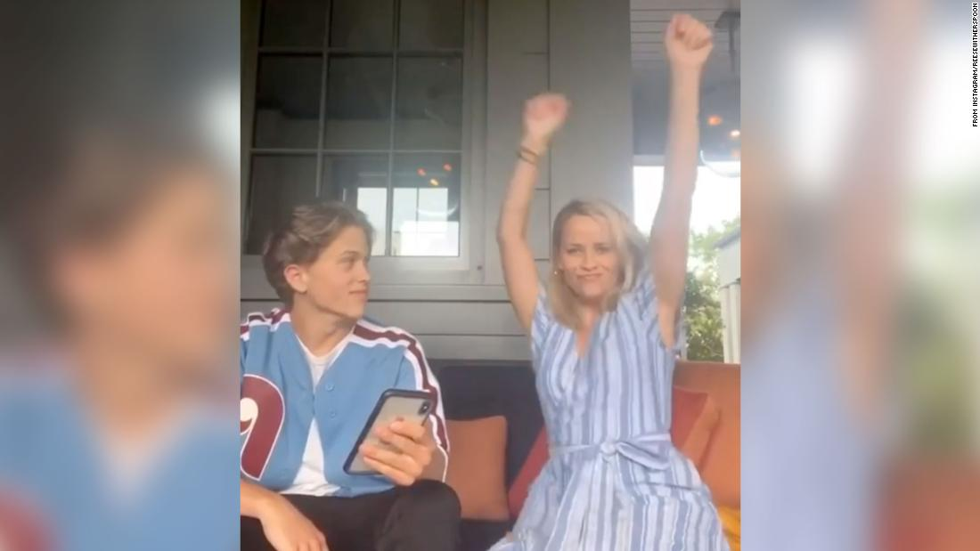 Reese Witherspoon is so proud of her son's new single that she danced to it on TikTok