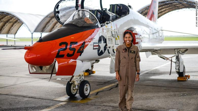 Lt. j.g. Madeline Swegle is the Navy's first known Black female tactical aircraft pilot.