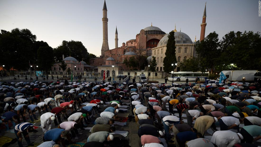 Pope Francis 'very saddened' as Turkey converts Hagia Sophia from museum into mosque