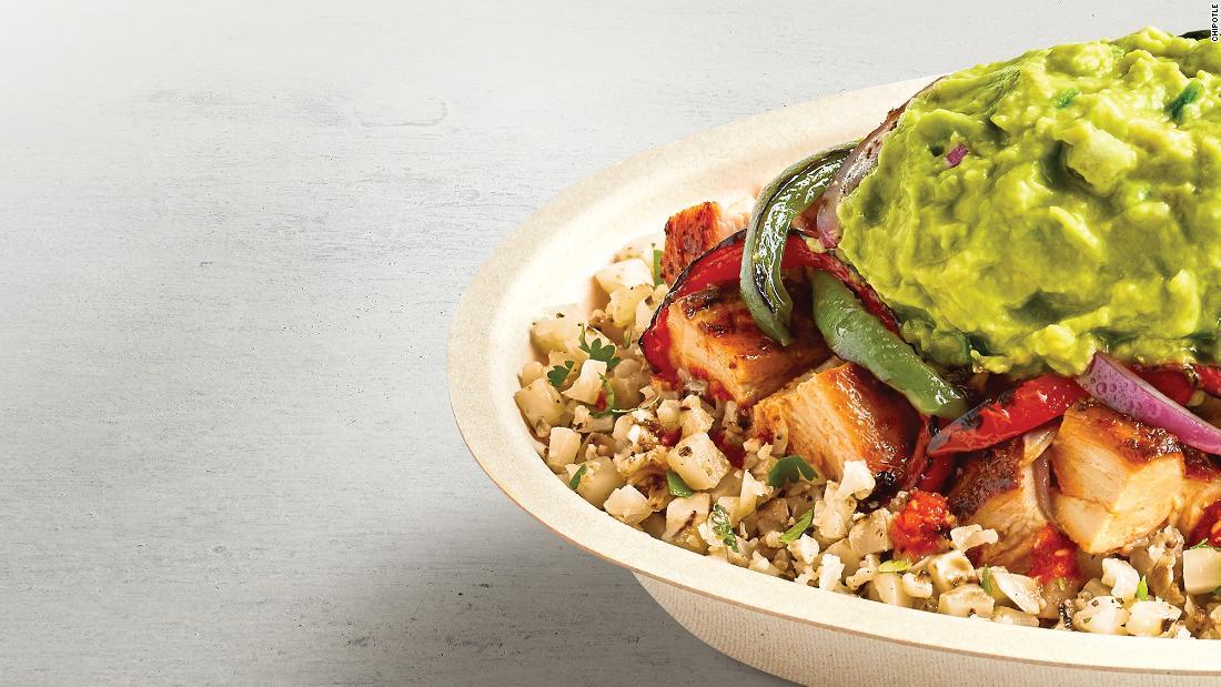Chipotle добавляет в свое меню рис с цветной капустой