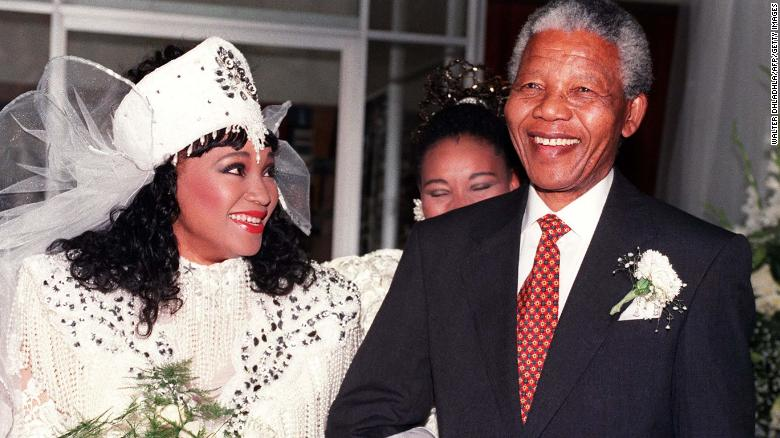 Zindzi Mandela pictured with father Nelson in 1992.