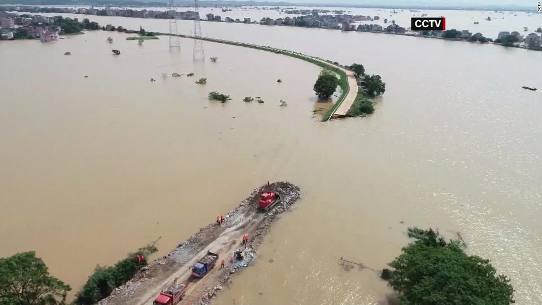 Parts of China wrecked by raging flood