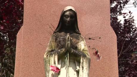 A Virgin Mary statue was burned outside the Saint Peter Parish Church in Boston.