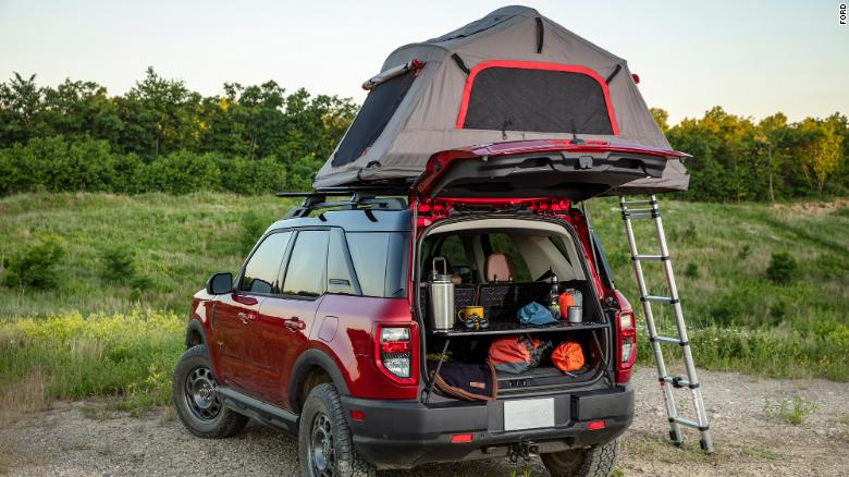 The Ford Bronco Sport is being marketed as the perfect vehicle for campers and hikers.