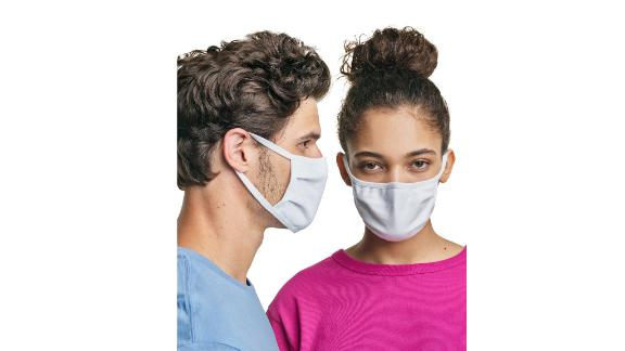 Hanes Wicking Cotton Masks, 10-Pack