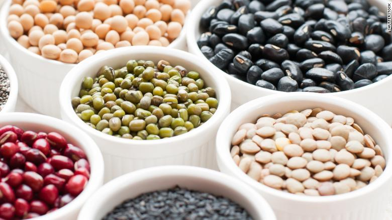 Lentils, beans and peas are good sources of fiber.