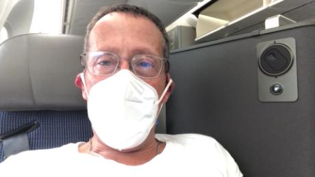 What happened to Richard Quest's first flight in four months