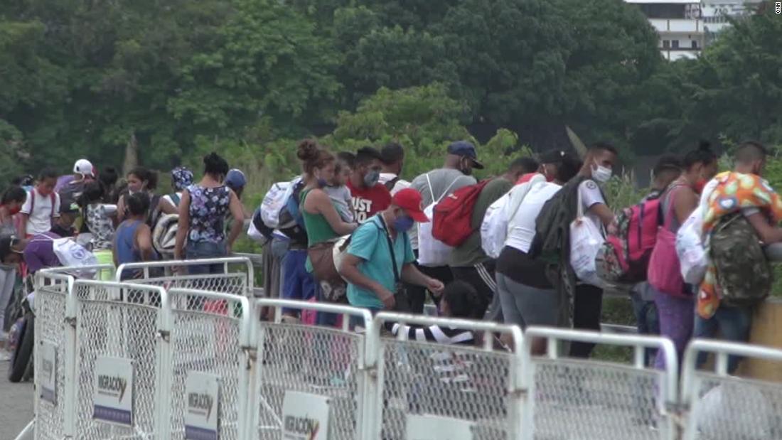 Venezuelan migrants fleeing Covid-19 get stuck at border