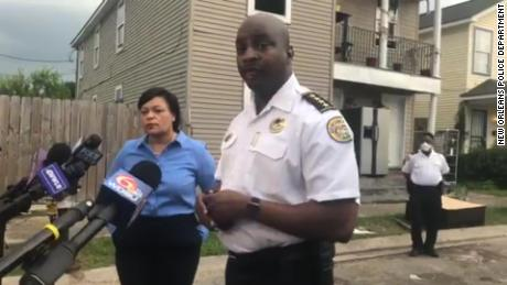 "New Orleans Police Chief Shaun Ferguson briefed reporters on the killing of a 9-year-old boy, which he called an ""unthinkable act."""