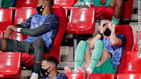 Gareth Bale în timpul meciului din La Liga dintre Granada și Real Madrid.
