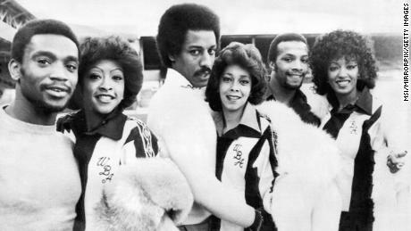 Valerie Holiday, Helen Scott and Sheila Ferguson a.k.a. The Three Degrees meet up with their football namesakes.