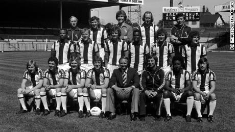 West Brom's squad for the 1978/79 season, featuring Cunningham, Regis and Batson.