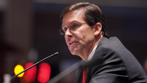 Secretary of Defense Mark Esper testifies during a House Armed Services Committee hearing on July 9, 2020 in Washington, DC.