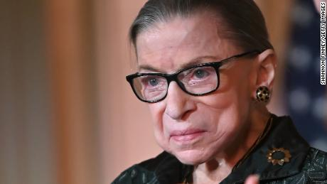 Justice Ruth Bader Ginzburg takes a break