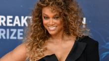 MOUNTAIN VIEW, CALIFORNIA - NOVEMBER 03: Tyra Banks attends the 2020 Breakthrough Prize Red Carpet at NASA Ames Research Center on November 03, 2019 in Mountain View, California. (Photo by Ian Tuttle/Getty Images  for Breakthrough Prize )