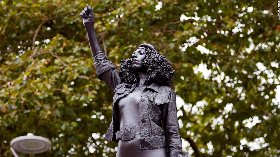Artist replaces slave dealer statue with one in every of a Black Lives Matter protester - CNN thumbnail