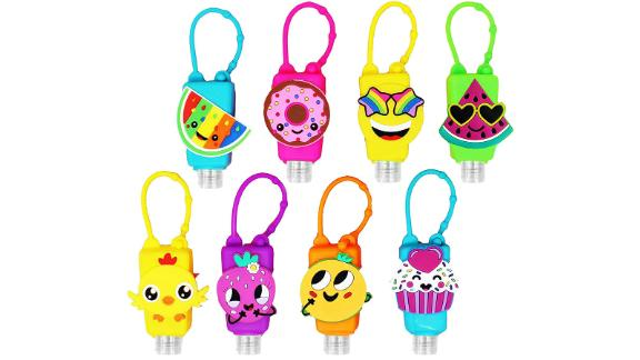 Kinia 8-Pack Empty Hand Sanitizer Keychain Carriers