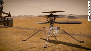 Ingenuity será el primer helicóptero en volar sobre Marte