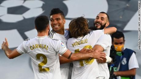 Real Madrid sărbătorește primul său titlu de campion încă din 2017.