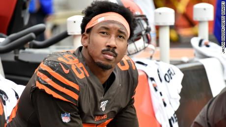 Myles Garrett, the NFL's highest-paid defender, says the league owes Colin Kaepernick an apology