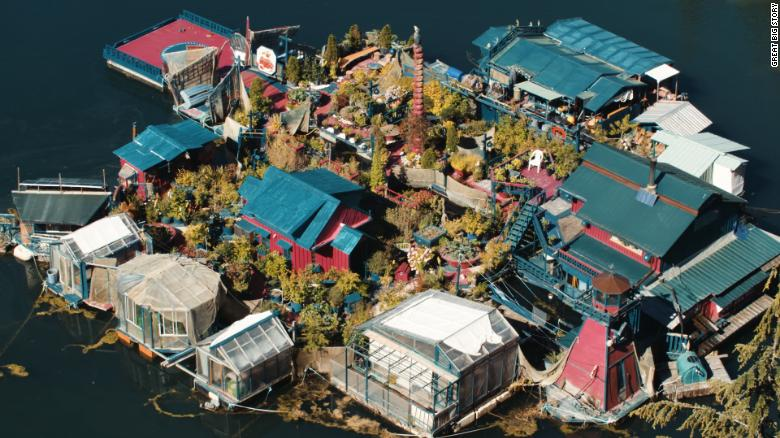 How one couple has lived for 29 years on an island they built ...