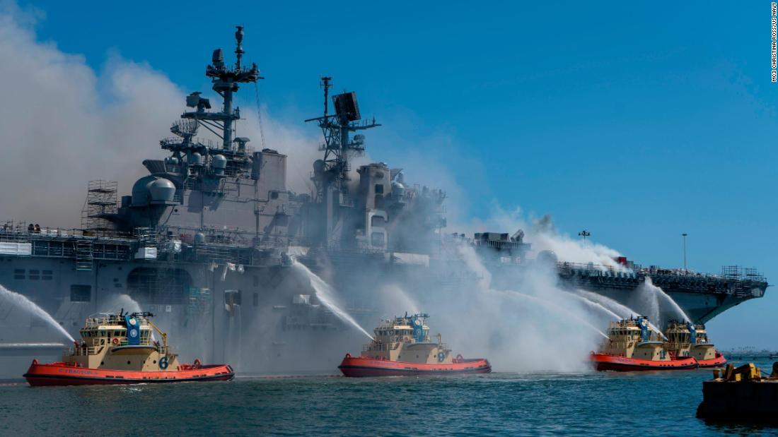 Navy charges sailor in connection with 2020 fire on USS Bonhomme Richard