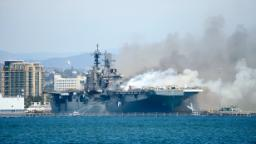 Sailor questioned over fire aboard USS Bonhomme Richard