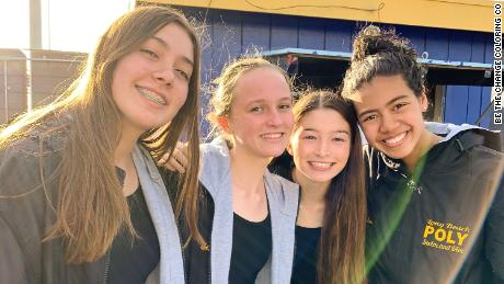 Sofia Migliazza, Ella Matlock, Erin Rogers and Lauryn Hong created Be the Change Coloring Co. as part of a economics class project.