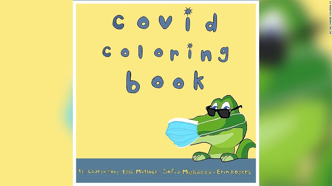 "The four students wrote, illustrated and published the ""Covid Coloring Book"" to teach children about the pandemic."