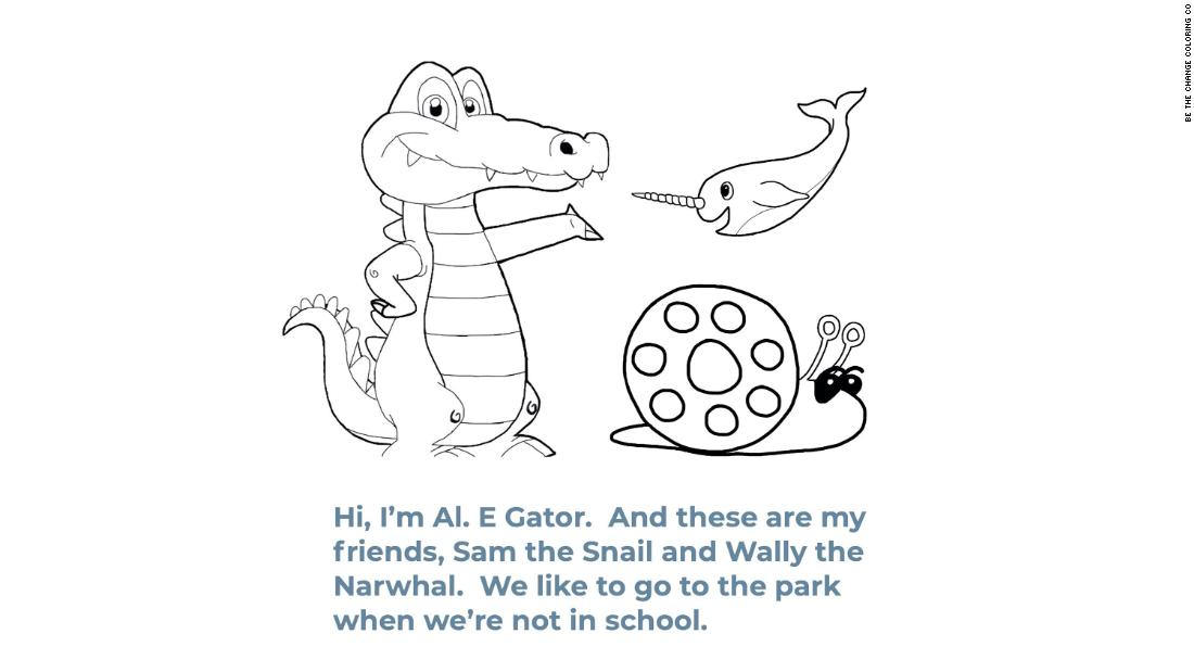 The book uses three characters, Al E. Gator, Wally the Narwhal and Sam the Snail, to educate children about coronavirus.