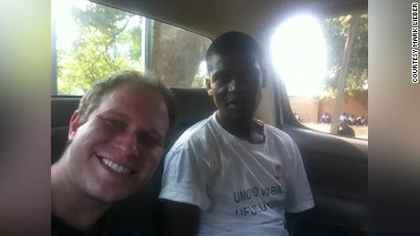 Mark Lieber and his friend and co-worker Arthur in Malawi.
