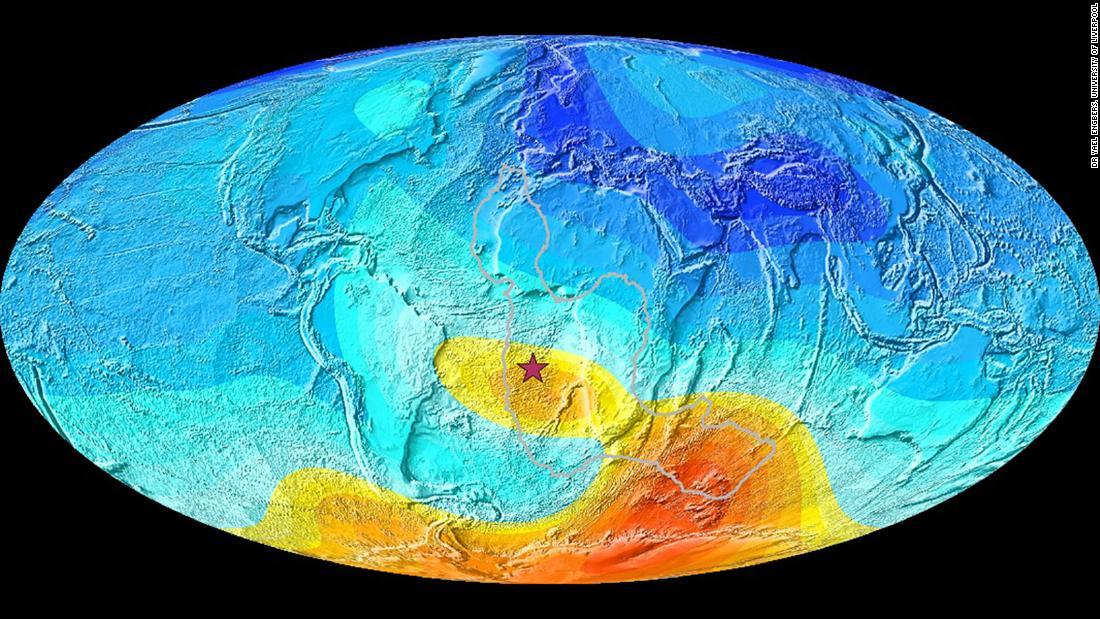 Scientists trace back strange behavior in South Atlantic magnetic field 11 million years – CNN