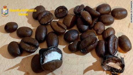 Customs officers found 130 grams of cocaine hidden in the coffee, which had been sent from Colombia.