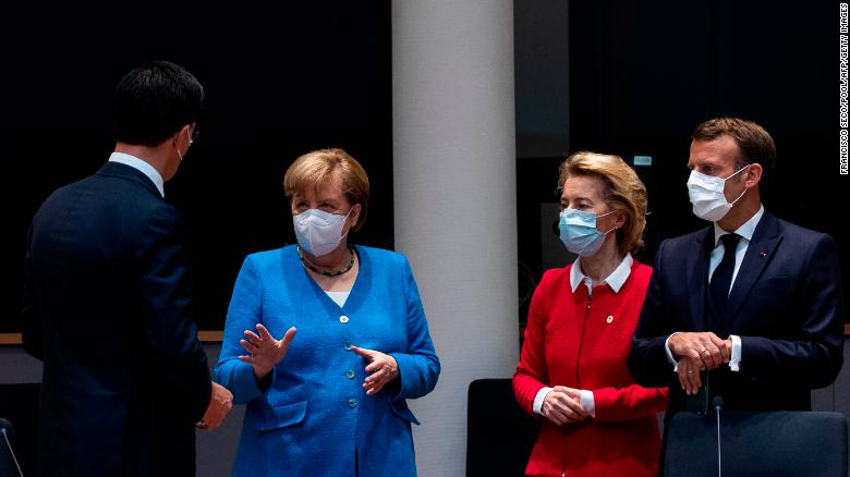 Many believe Ursula von der Leyen, second from right, rather than acting as guardian of the EU's treaties, is acting in the interests of the governments of the 27 EU nations.